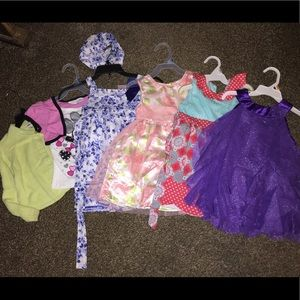 Girls LOT of clothes Dresses, shirt, & cardigan